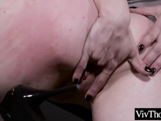 Dominatrix orders younger lover to please her