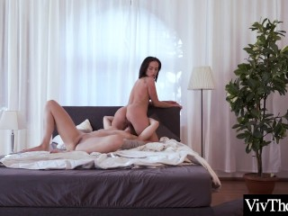 Sexy brunettes eat each other's hot pussy