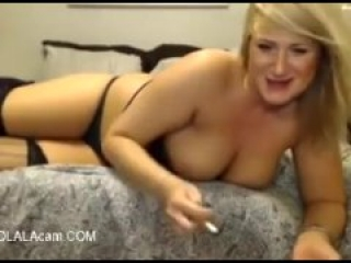 Watch this busty sluty wife having fun on cam while her husband is working