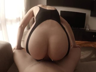 My new sexy outfit made him cum too quickly…