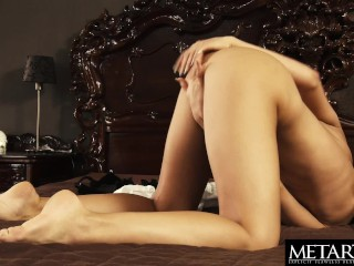 Watch this hot girl get naked and masturbate to an intense orgasm