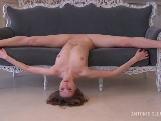 Experience the atmosphere of an erotic photo session with the charming nude dancer. Preview.
