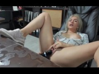 Milfs Messy Work Desk From Squirting Cum