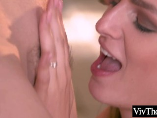 Horny lesbian lovers lick each other wet pussy and finger-bang each other